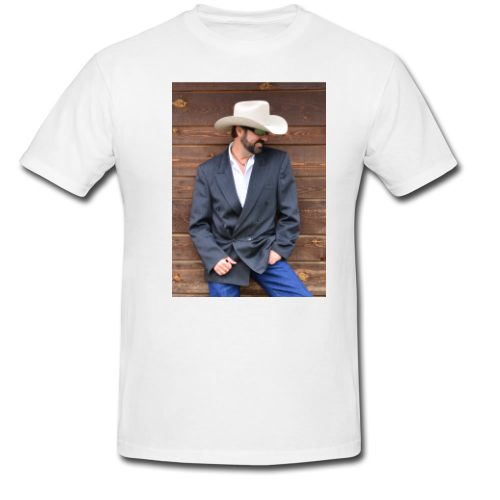 White t shirt with Roy's Picture
